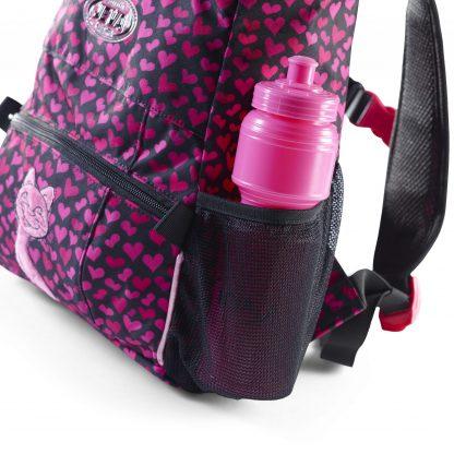Elastisk netsidelomme m. drikkedunk i børnehave-rygsækken
