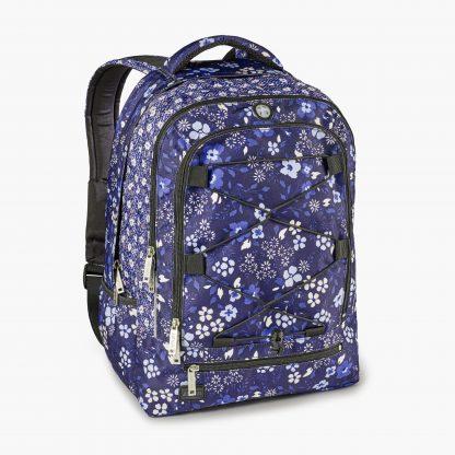 rygsæk med blå blomster fra JEVA
