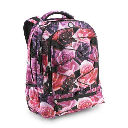 let rygsæk fra JEVA med feminint rosen print