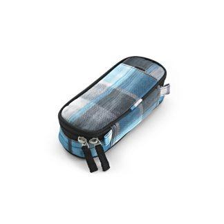 penalhus med tern i blå og sort/hvid fra JEVA
