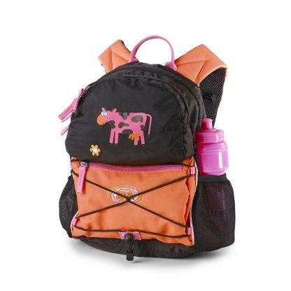 børnehave rygsæk Cowgirl med integreret siddeunderlag/regnovertræk