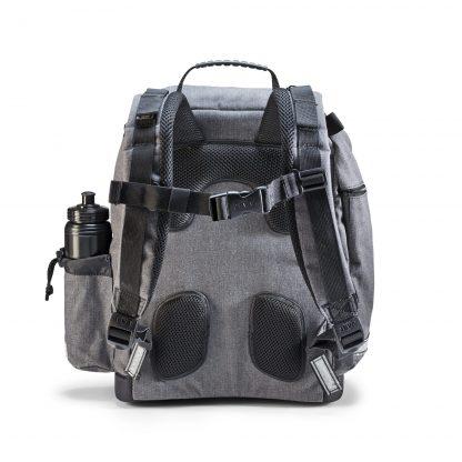 U-Turn skoletaske Denim set fra ryggen