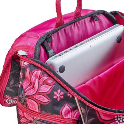 U-Turn skoletaske m. stort isoleret rum til laptop