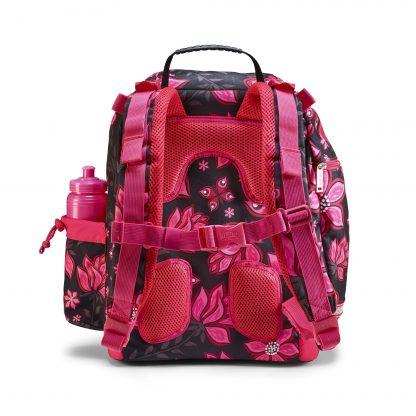 U-turn skoletaske set bagfra, Virtual Pink m. støttepuder
