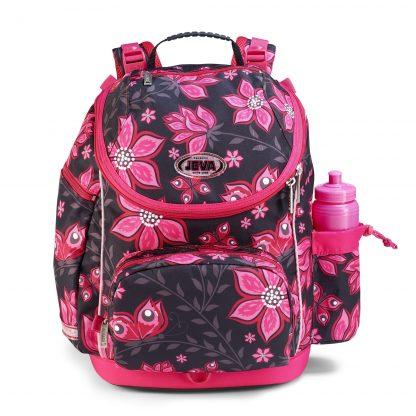 stor skoletaske til skolebørn, U-TURN virtual pink