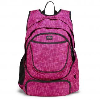 "Rygsæk BACKPACK XL Pink med mange lommer og isoleret 17.3"" laptoprum - fra JEVA"