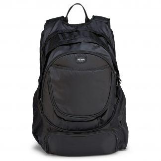 sort rygsæk til computer - god skoletaske til gymnasiet