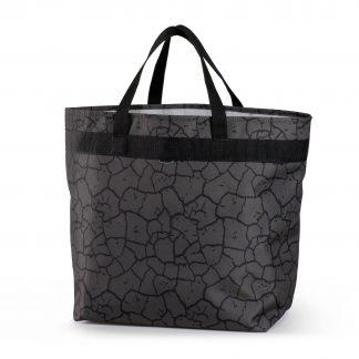 miljøvenligt indkoebsnet grå sort