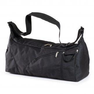 sort sportstaske med vådrum - jeva