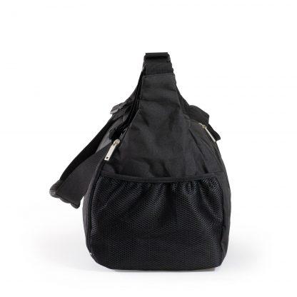 sort sportstaske med netlomme