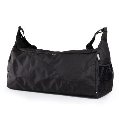 sort sportstaske med mange lommer