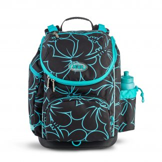 pigeskoletaske til 1.-4. klasse piger - hibiscus U-TURN fra JEVA