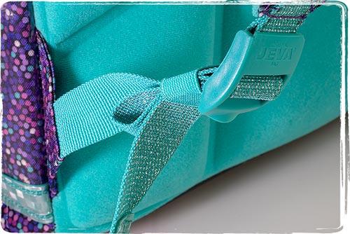 elastik på remmene til opsamling af overskydende rem
