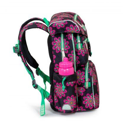 glow BEGINNERS skoletaske set fra siden