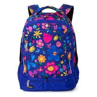 farverig skoletaske til piger i 3. klasse og op