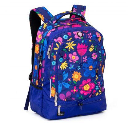 blomstret rygsæk til piger i 3. klasse og op