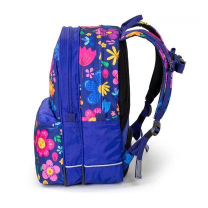 Seaflowers SQUARE skoletaske set fra siden