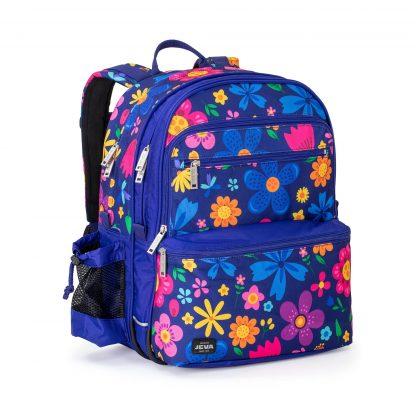 Seaflowers SQUARE - blå rygsæk med blomster