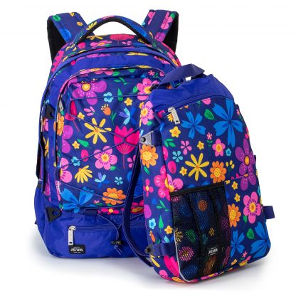 30+10 liter rygsæk med blomster