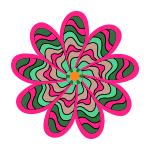 glow blomst fra mønster