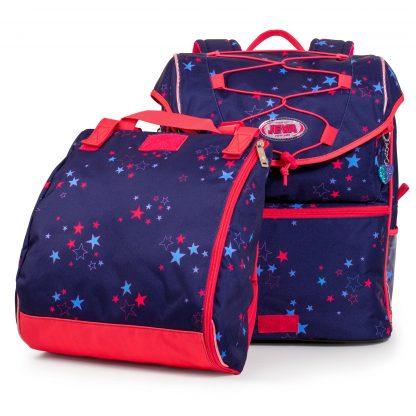 skoletaske med gymnastikposen afmonteret