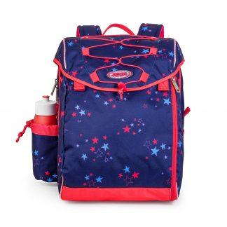 skoletaske med pink stjerner