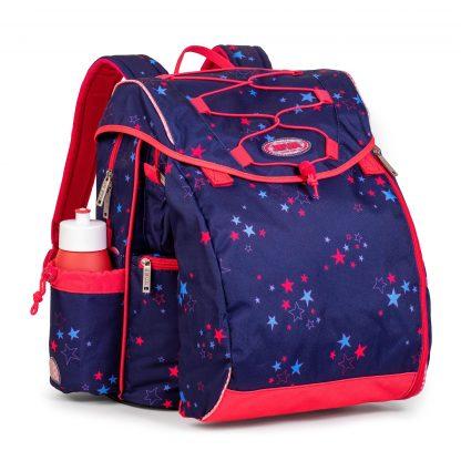 pigeskoletaske med pink stjerner