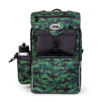 Digital camou BEGINNERS m. pixeleret camouflage print, drikkedunk og gymnastikpose i låget.