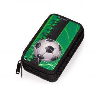 dobbelt penalhus med fodboldmotiv