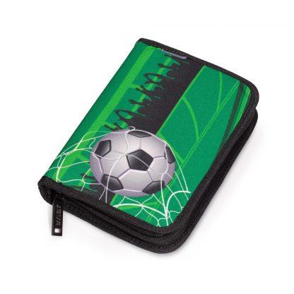 penalhus med sejt fodboldmotiv