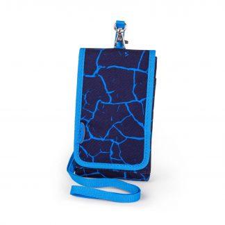 Blå mobiltaske