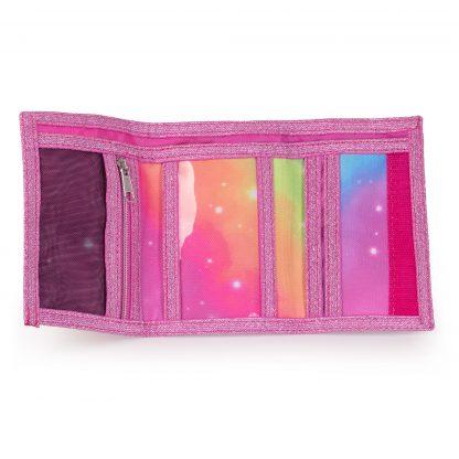 lyserød pung - åben