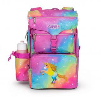 skoletaske med enhjørning med glimmer
