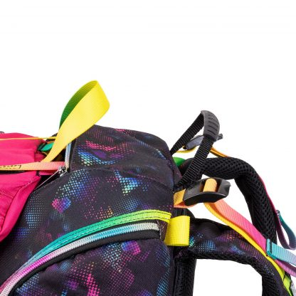 skoletasken kan justers ekstra 7 cm. på remmene