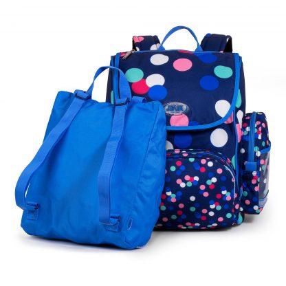 skoletaskens gymnastikpose er en lille selvstændig rygsæk