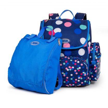 skoletaske med sportspose
