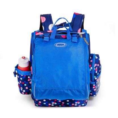 skoletaske med gymposen påsat