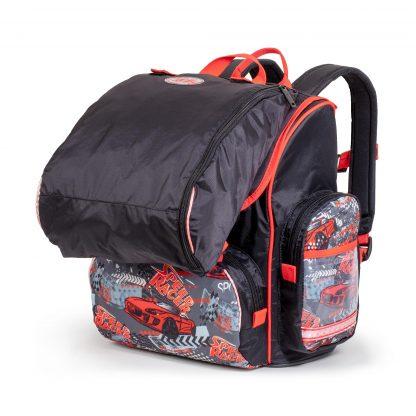 skoletaske med gymnastikposen påsat
