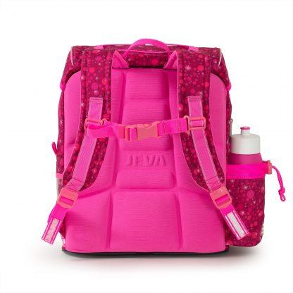 pink skoletaske med ergonomisk rygstøtte