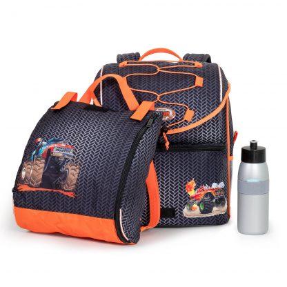 skoletaske med idrætstaske og mepal drikkedunk