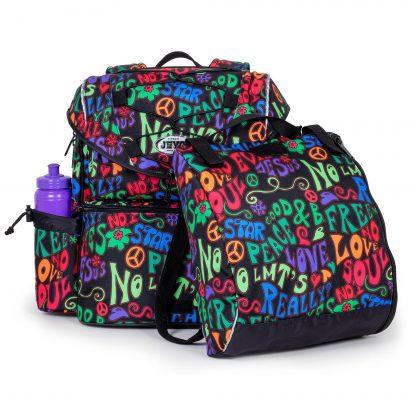 flot skoletaske med gymnastiktaske