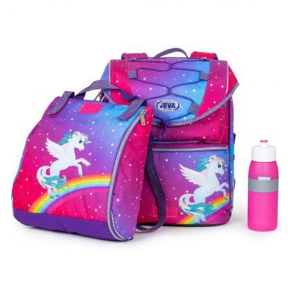 flot skoletaske med alicorn og glimmer