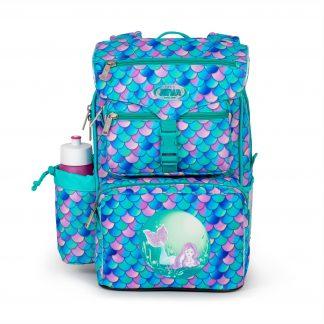 havfrue skoletaske med glimmer