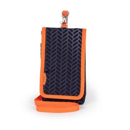 sort-orange mobiltaske til drenge