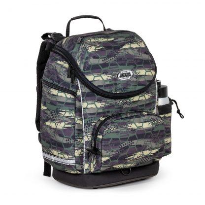 Sej skoletaske med abstrakt mønster